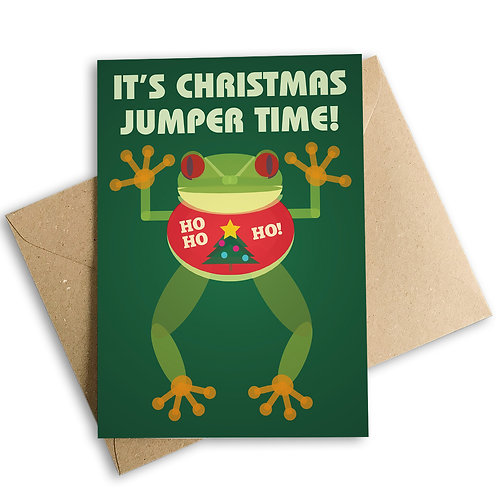 It's Christmas Jumper Time Card