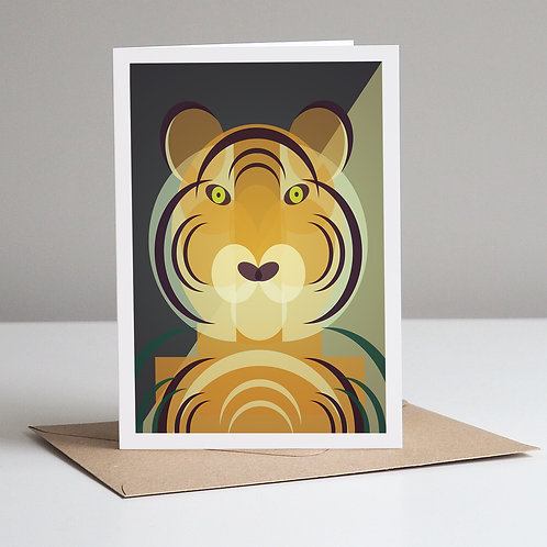 Mid Century Tiger Card