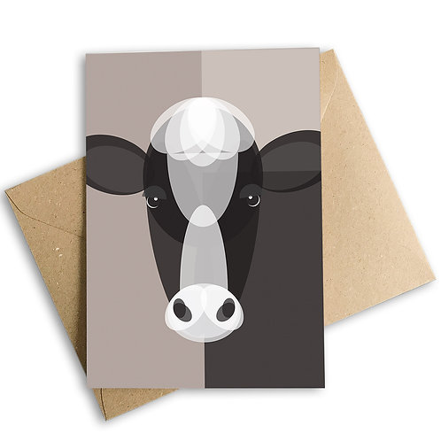 Cow Greetings Card