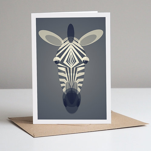 Mid Century Zebra Card