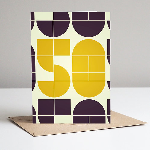 Mid Century Number 50 Card