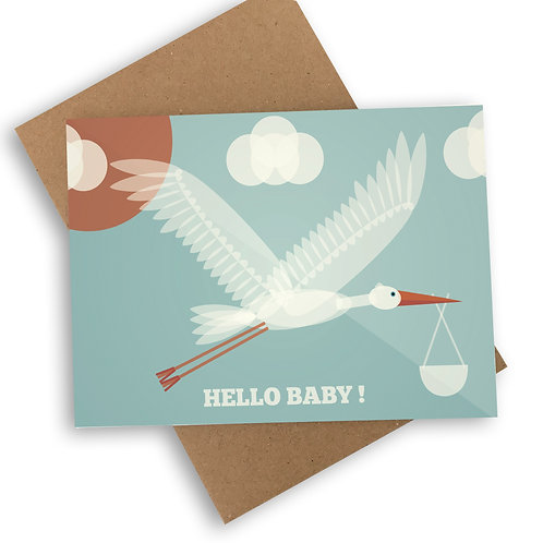 Hello Baby! New Baby Boy Card