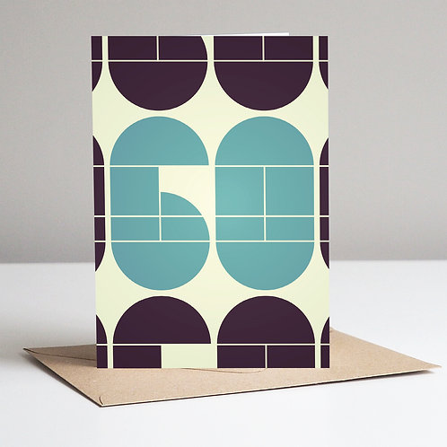 Mid Century Number 60 Card