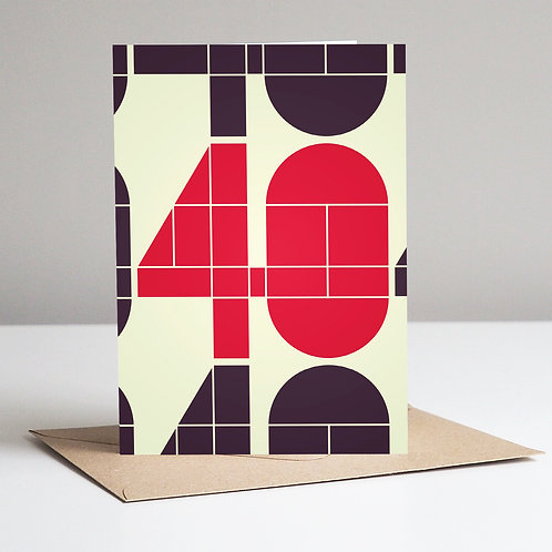 Mid Century Number 40 Card