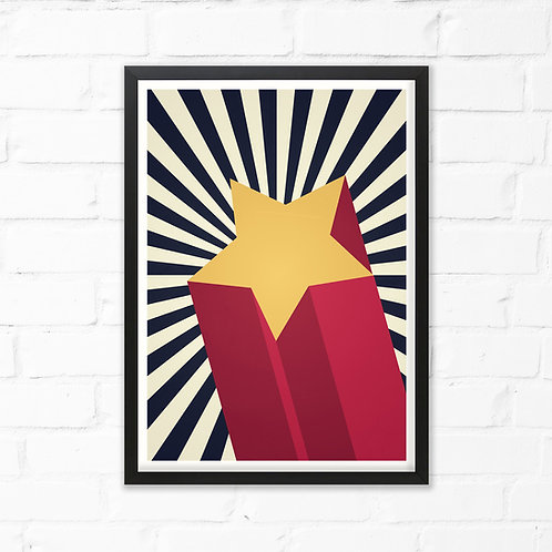 3D Shooting Star Art Print
