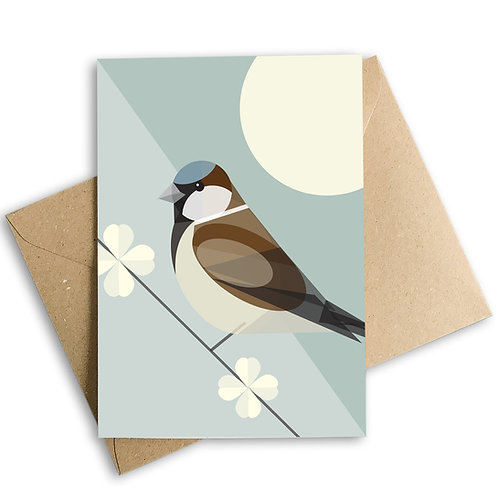 Sparrow Greetings Card