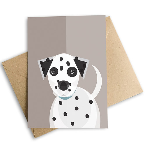 Dalmatian Greetings Card