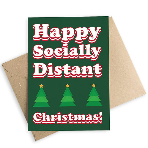 Happy Socially Distant Christmas Card