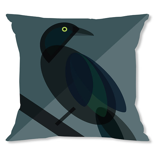 Mid Century Black Bird Cushion