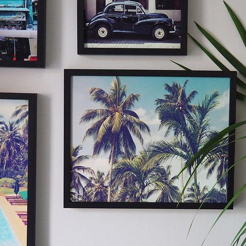Vintage Style Palm Trees Fine Art Print