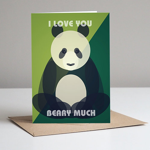 Panda I Love You Beary Much Card