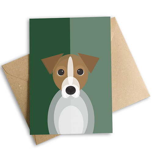 Jack Russell Greetings Card