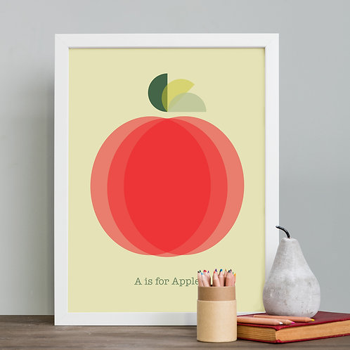 Red Apple Print