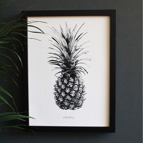 Pineapple Engravings Art Print