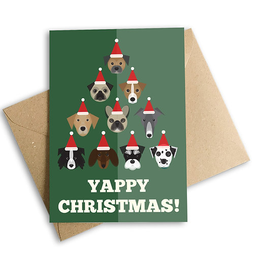 Yappy Christmas Dogs Card