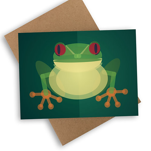 Tree Frog Greetings Card