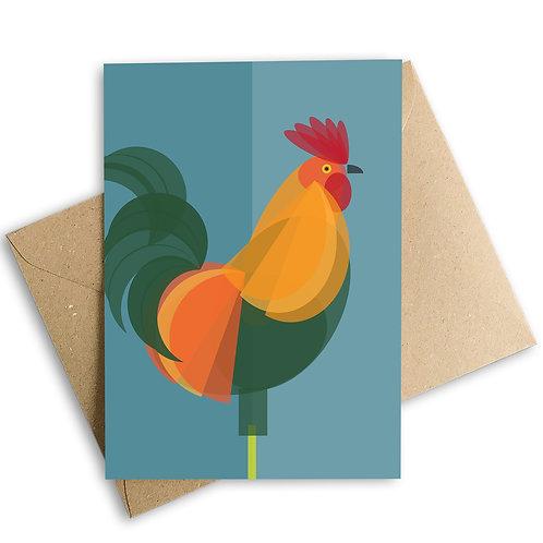 Cockerel Greetings Card