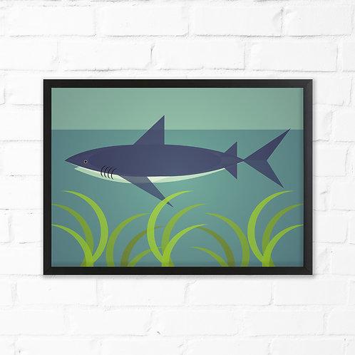 Mid Century Shark Print
