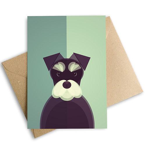 Miniature Schnauzer Greetings Card