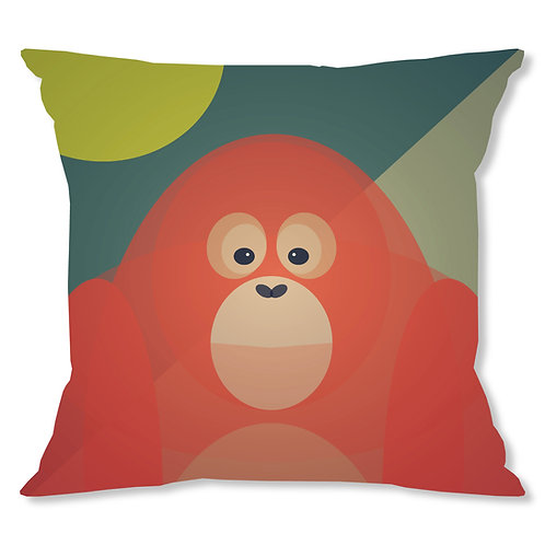 Mid Century Orangutan Cushion Cover