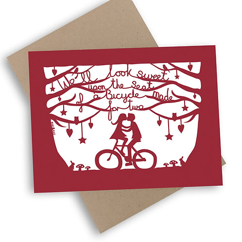 Romantic Bicycle Card