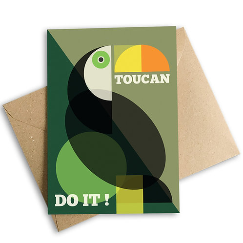 Toucan Do It! Good Luck Card