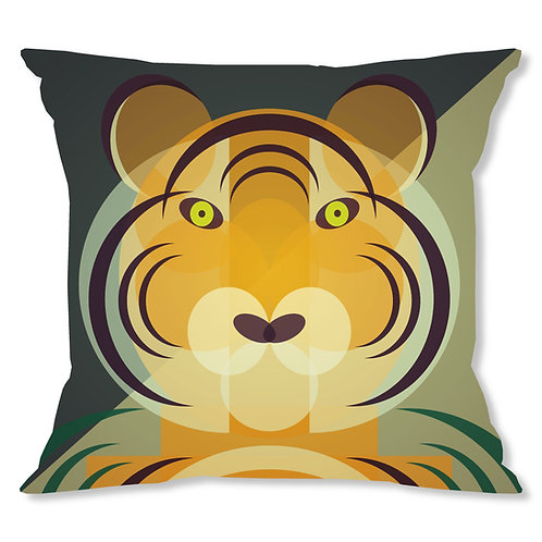 Mid Century Tiger Cushion