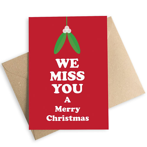 We Miss You A Merry Christmas Card