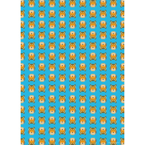 Blue Tiger Wrapping Paper