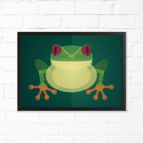 Mid Century Tree Frog Print