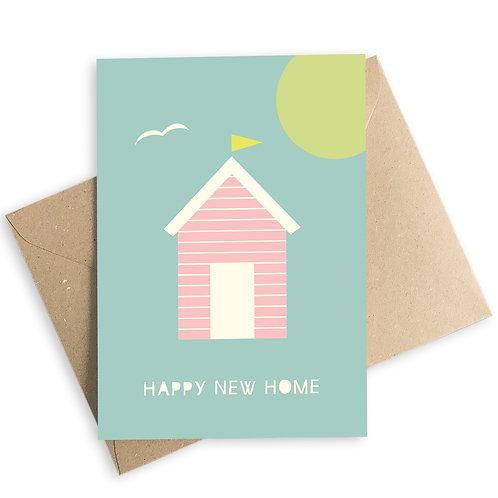 Happy New Home Beach Hut Card