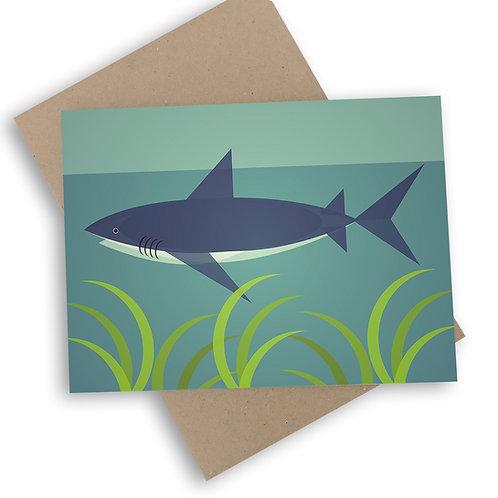 Mid Century Shark Card
