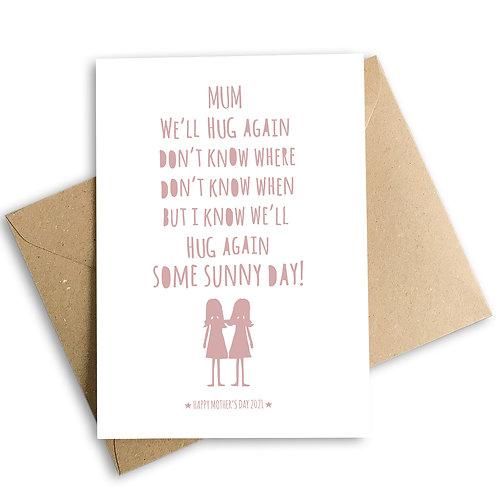 We'll Hug Again Mother's Day Lockdown Card