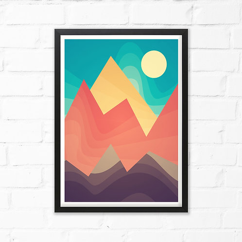 No Mountain High Print