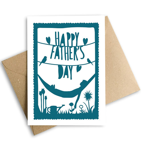 Happy Father's Day Relaxing Hammock Card