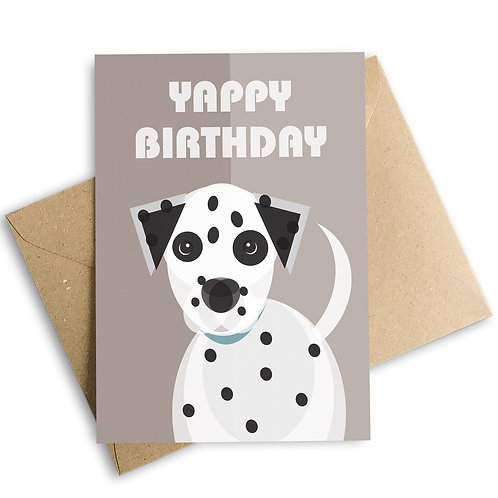 Yappy Birthday Dalmatian Greetings Card