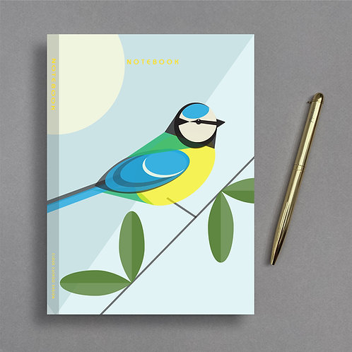 A5 Blue Tit Notebook