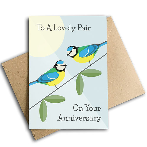 To A Lovely Pair On Your Anniversary Card