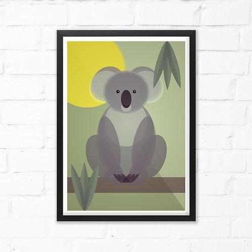 Mid Century Koala Print