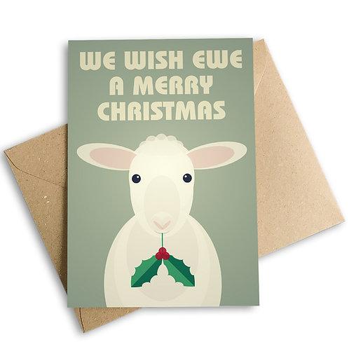 We Wish Ewe A Merry Christmas Card