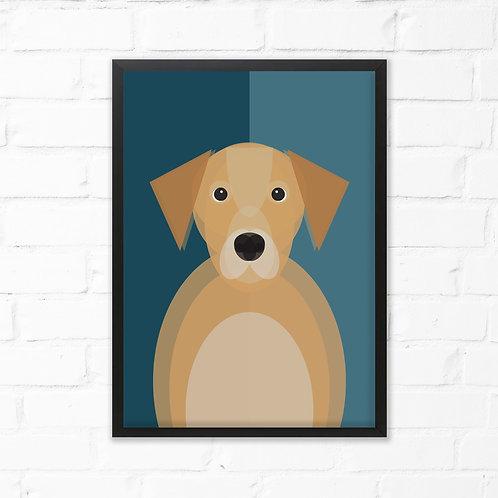 Golden Labrador Print