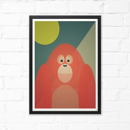 Orangutan Print