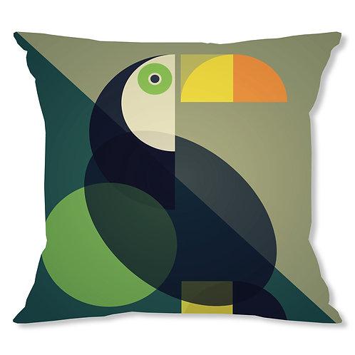 Mid Century Toucan Cushion Cover