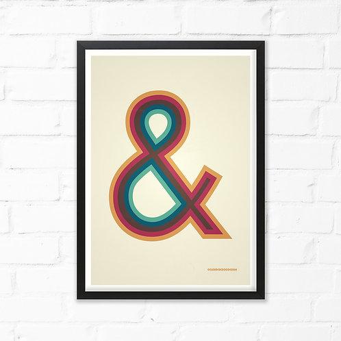 Large Ampersand Print