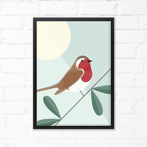 Robin Bird Print