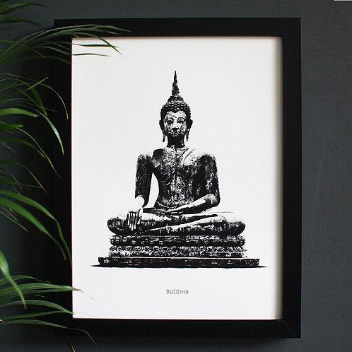 Buddha Engravings Art Print