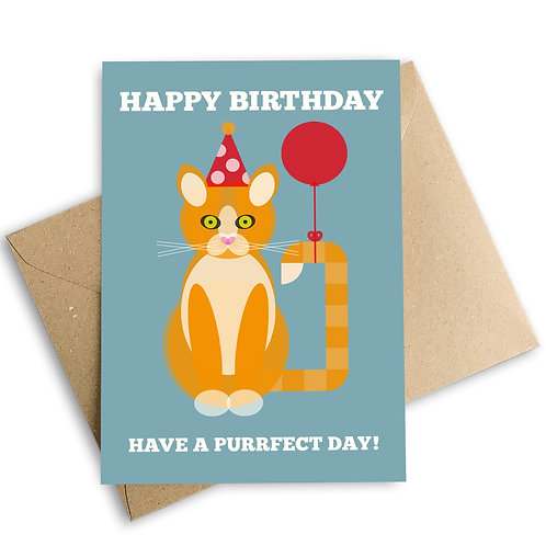 Happy Birthday Have A Purrfect Day Card