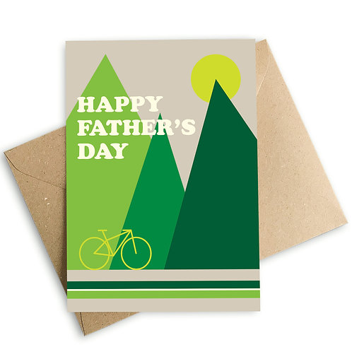 Cyclist Happy Father's Day Card