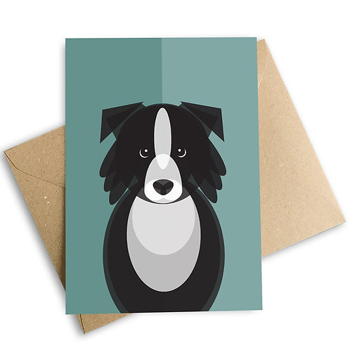 Border Collie Greetings Card