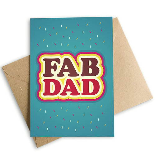 FAB DAD Father's Day Card